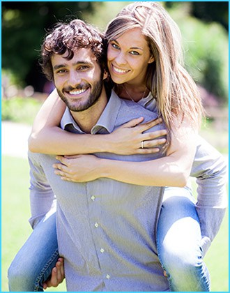 happy smiling young couple