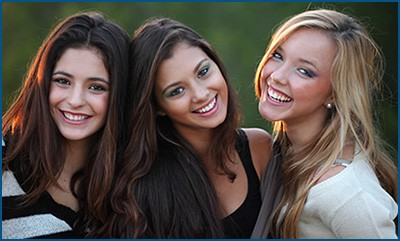 3 teens with beautiful smiles