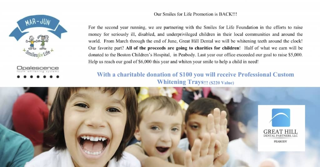 Our Smiles for Life Promotion is BACK